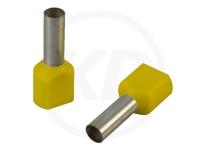 Aderendhülsen, zweifach, 26mm, 6.0mm², 100 Stück