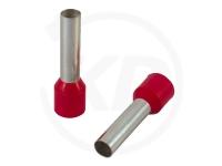 Aderendhülsen isoliert, 10mm, 6mm, 1.0mm², 100 Stück