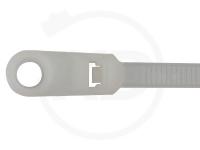 4.8 x 300 mm Kabelbinder mit Befestigungsöse, natur, 100 Stück