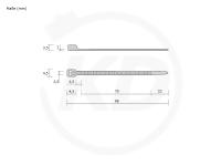 Detektierbare Kabelbinder, 2,5 x 98 mm, 100 Stück
