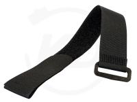 Klettbinder mit Umlenköse, 20 x 200 mm, schwarz, 10 Stück