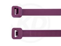 7.8 x 365 mm Kabelbinder, lila, 100 Stück