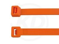 7.8 x 365 mm Kabelbinder, orange, 100 Stück