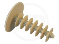 Gerüststopfen Rundlamelle, 28 x 40 mm, beige, 1000 Stück
