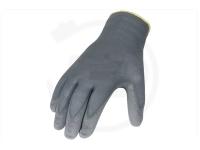 Nylonhandschuhe mit PU-Beschichtung, grau, Gr. 8