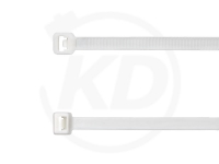 3.6 x 290 mm Kabelbinder, weiß, 100 Stück