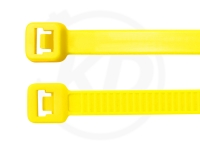 7.8 x 365 mm Kabelbinder, neongelb, 100 Stück
