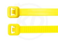 3.6 x 140 mm Kabelbinder, neongelb, 100 Stück