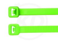 3.6 x 140 mm Kabelbinder, neongrün, 100 Stück