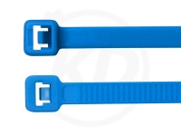 4.8 x 200 mm Kabelbinder, neonblau, 100 Stück