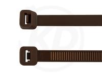 2.5 x 98 mm Kabelbinder, braun, 100 Stück