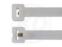 2.5 x 200 mm Kabelbinder mit Metallzunge, natur, 100 Stück