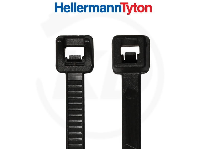 HELLERMANN Kabelbinder 300x T80I-PA66W-BK schwarz 100 Stück