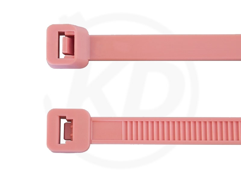 2,5 x 98 mm Cable ties, pink 100 pieces - kabelbinder-discount.de
