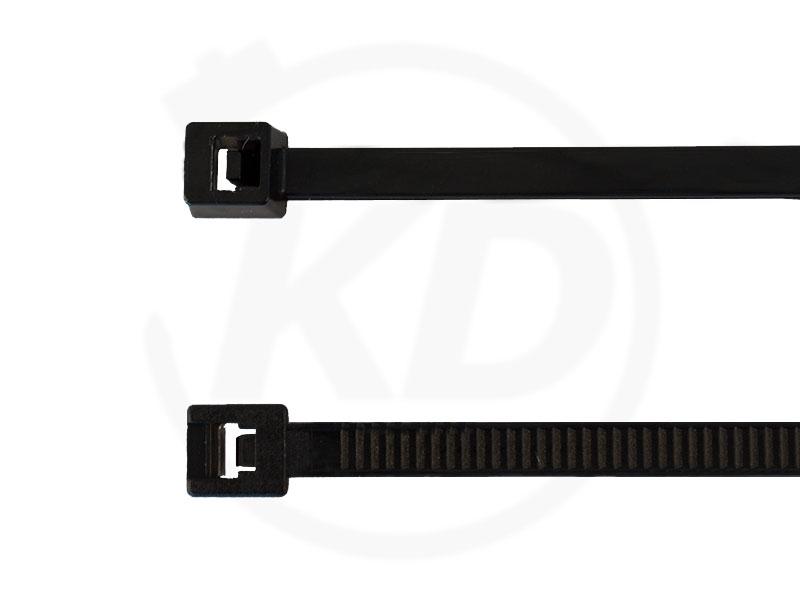 100 St. UV geschützt 2,5x200 mm Kabelbinder schwarz