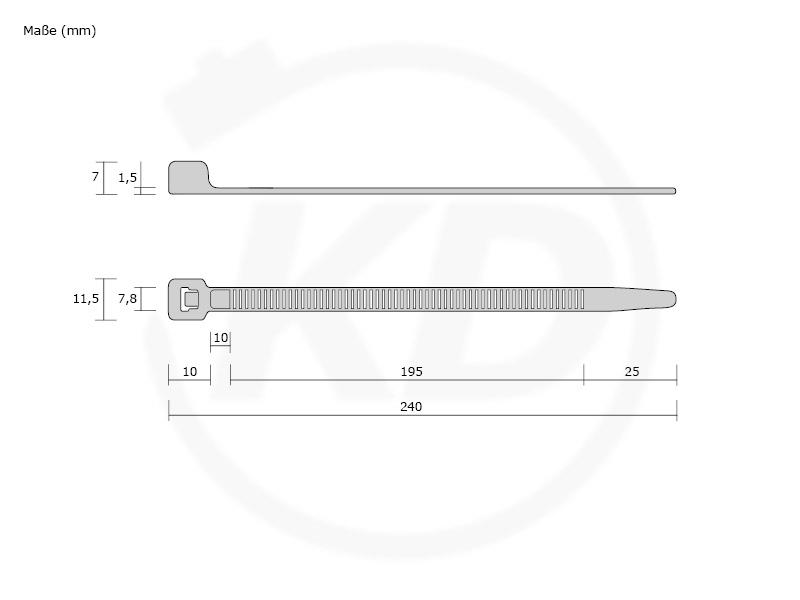 Kabelbinder Natur 4,8 x 250 mm Restposten NEU 100 Stk