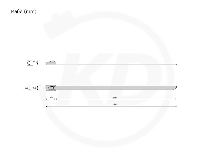 4,6 x 350 mm Edelstahlbinder mit Beschichtung - kabelbinder-discount.de