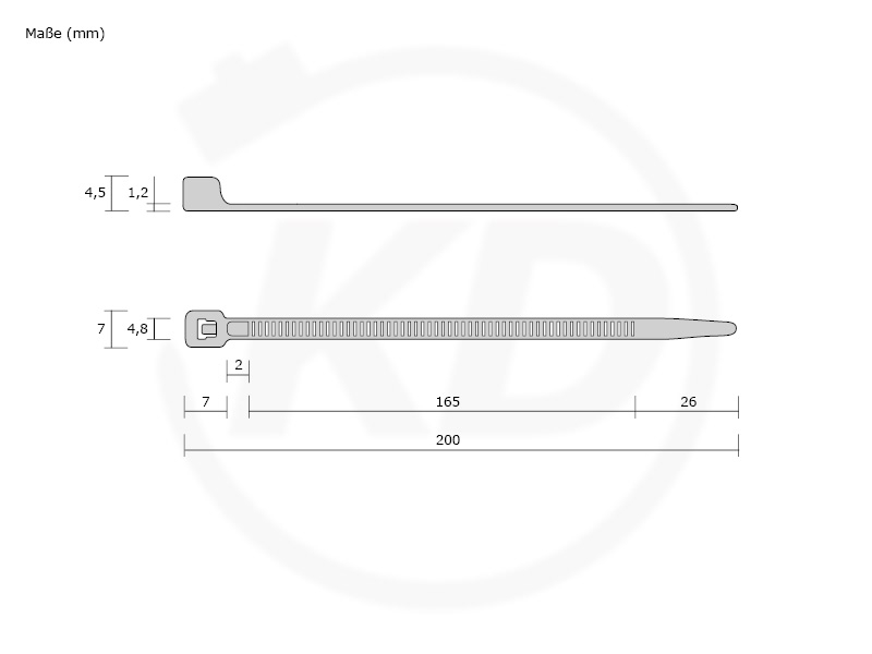 Kabelbinder NEONGELB 4,8x200 mm 100 Stück