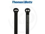 T & B - KB mit Stahlzunge aus Polypropylen, 4,8 x 186 mm, schwarz, 1000 Stück