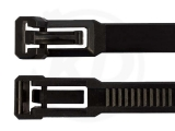 7,5 x 150 mm Kabelbinder, wiederlösbar, schwarz 100 Stück