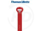 T & B - Kabelbinder mit Stahlzunge, 4,8 x 186 mm, rot, 1000 Stück