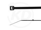 Kabelbinder mit Stopper 2,5 x 102 mm, schwarz