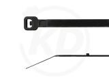 Kabelbinder mit Stopper 3,6 x 300 mm, schwarz