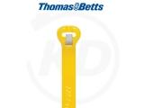 T & B - Kabelbinder mit Stahlzunge, 3,6 x 284 mm, gelb, 1000 Stück
