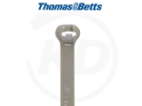 T & B - Kabelbinder mit Stahlzunge, 2,4 x 92 mm, grau, 1000 Stück