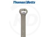 T & B - Kabelbinder mit Stahlzunge, 6,9 x 340 mm, grau, 500 Stück