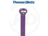 T & B - Kabelbinder mit Stahlzunge, 3,6 x 140 mm, violett, 1000 Stück