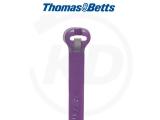 T & B - Kabelbinder mit Stahlzunge, 6,9 x 340 mm, violett, 500 Stück
