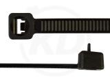 3,6 x 150 mm Kabelbinder, wiederlösbar, schwarz 100 Stück