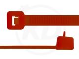 4,8 x 200 mm Kabelbinder, wiederlösbar, rot 100 Stück