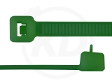 4,8 x 200 mm Kabelbinder, wiederlösbar, grün 100 Stück