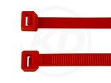 2,6 x 200 mm Kabelbinder, rot 100 Stück