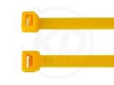 2,6 x 200 mm Kabelbinder, gelb 100 Stück