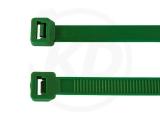 2,6 x 200 mm Kabelbinder, grün 100 Stück