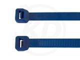 2,6 x 200 mm Kabelbinder, blau 100 Stück
