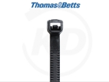 T & B - Vollplastik-Kabelbinder, 2,4 x 112 mm, schwarz, 1000 Stück