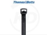 T & B - Vollplastik-Kabelbinder, 2,4 x 163 mm, schwarz, 1000 Stück