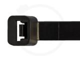 9,0 x 300 mm Kabelbinder, schwarz 100 Stück