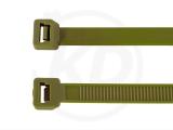 4,8 x 200 mm Kabelbinder, oliv 100 Stück