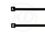 Kabelbinder aus Polypropylen, 2,5 x 100 mm, schwarz 100 Stück