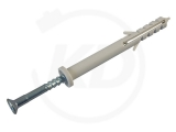 Nageldübel mit Zylinderkopf, 08 x 60 mm, grau, 100 Stück
