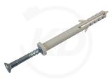 Nageldübel mit Zylinderkopf, 08 x 80 mm, grau, 100 Stück