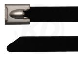 12 x 520 mm Edelstahlbinder mit Beschichtung 100 Stück