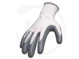 Nitrile coated polyester gloves, grey, size 9