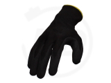 Polyester gloves with PU coating, black, size 10