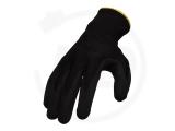 Polyesterhandschuhe mit PU-Beschichtung, schwarz, Gr. 10